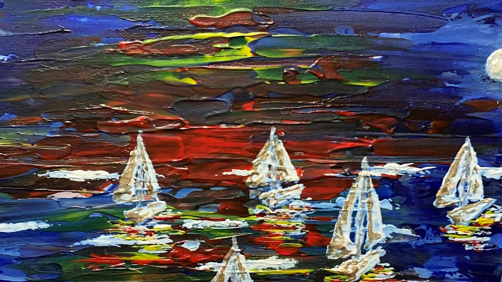 MOONFLEET - Original Acrylic and Oil by Fiona Lindsay