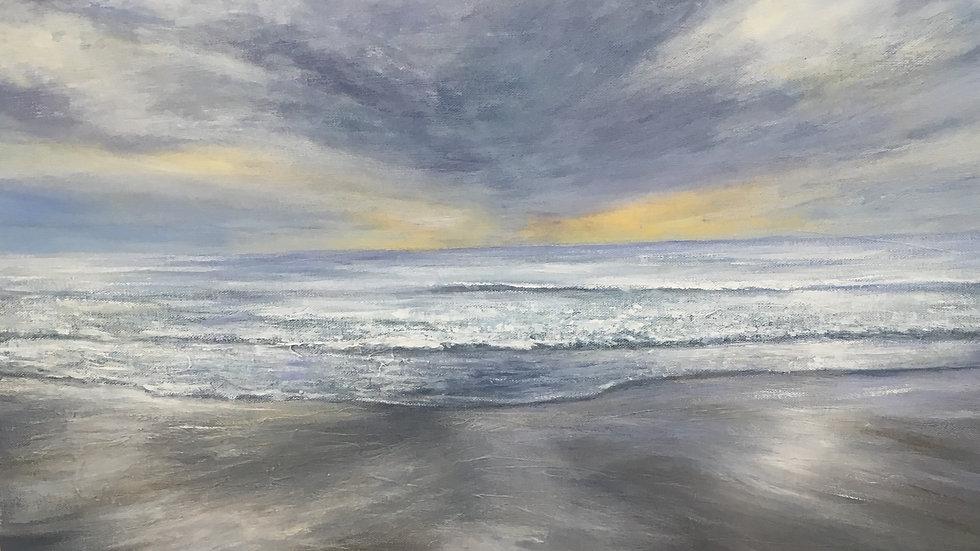 INDIGO DUSK Original Acrylic on canvas Artist: Sue Lewin
