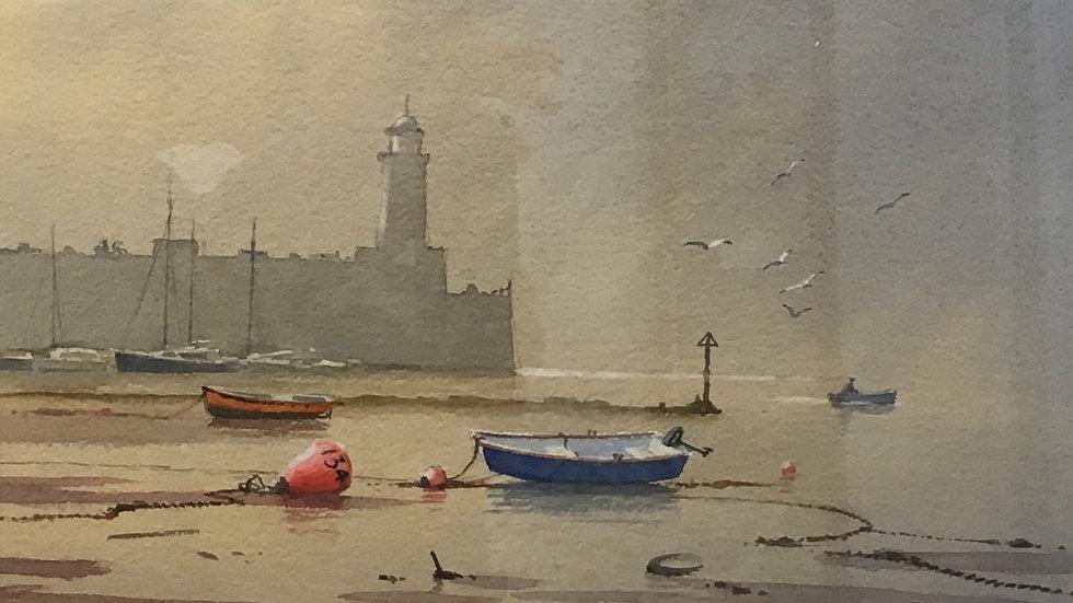 MORNING TIDE Original Watercolour Artist: Denis Pannett