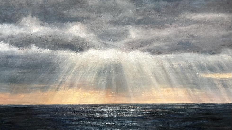 SKYFALL Original Acrylic on canvas Artist: SUE LEWIN