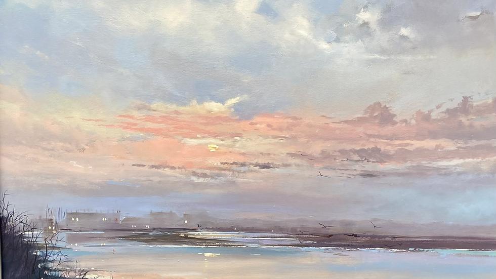 EVENING MIST ON THE AXE  Original Oil on Canvas Artist; Barry Seaforth