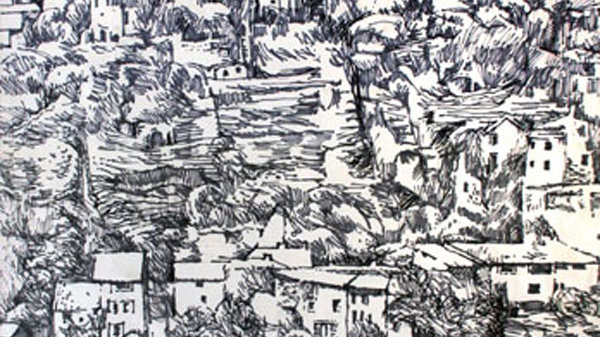 The Hill Town of Gordes, Artist  Alan  Cotton, Provence