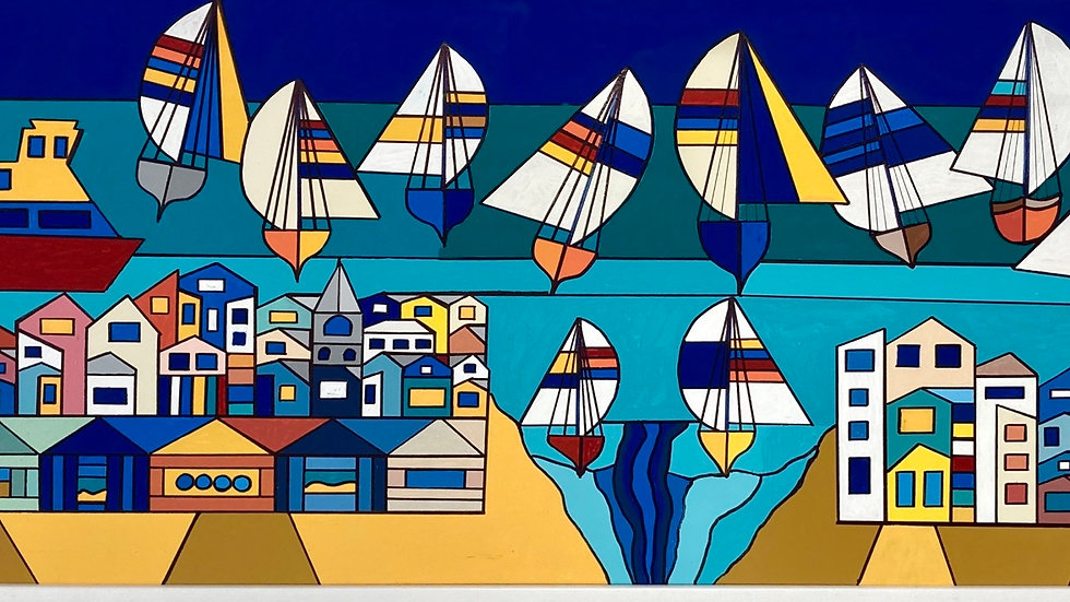 EXMOUTH Original Acrylic on canvas Artist: George Hutchinson