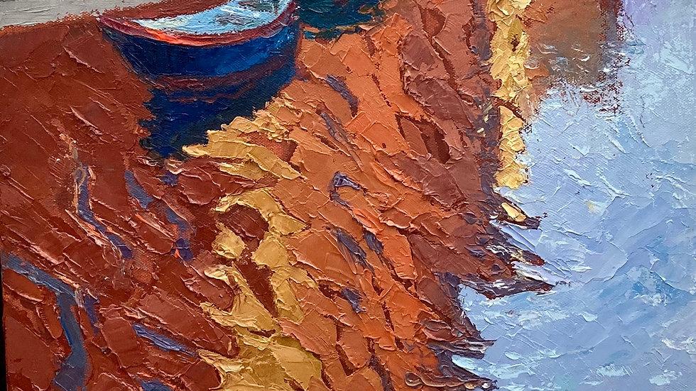 REFLECTIONS VENICE Original Oil on Canvas Artist Alan Cotton