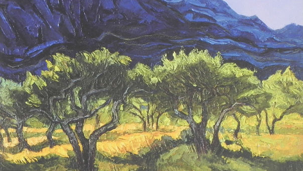 Olive Orchard at Les Baux, Provence Artist: Alan Cotton