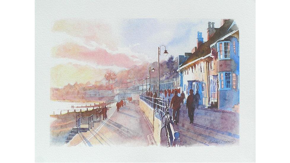 HIGH SUMMER LYME REGIS Fine Art Numbered  Print Artist Michael Stride