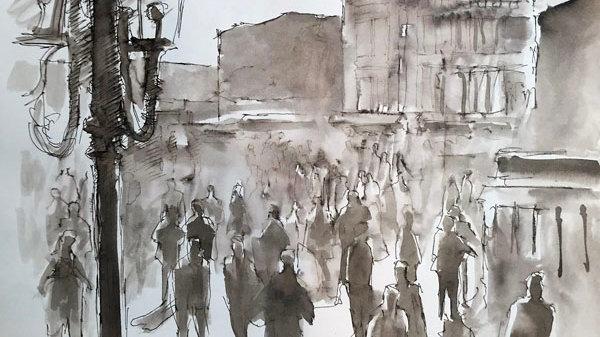 Late Evening along the Riva Schiavoni, Venice Artist Alan Cotton