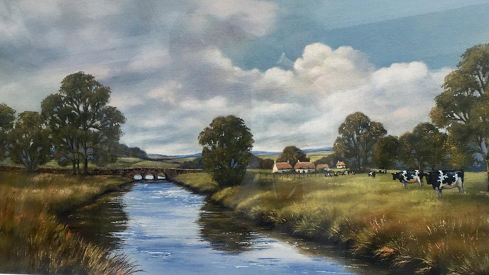 LANDSCAPE Original framed oil. Artist Deborah Poynton