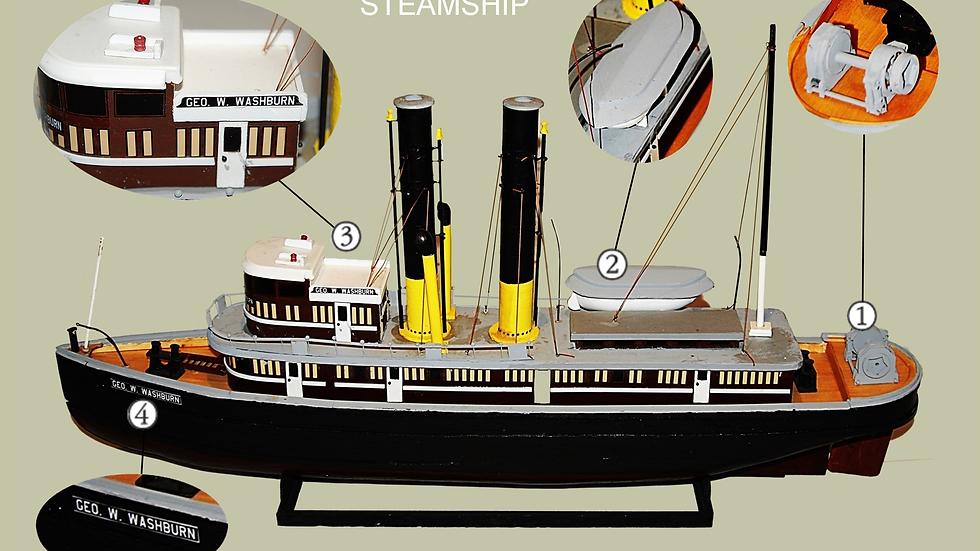 GEO W WASHBURN Model of steam tugboat