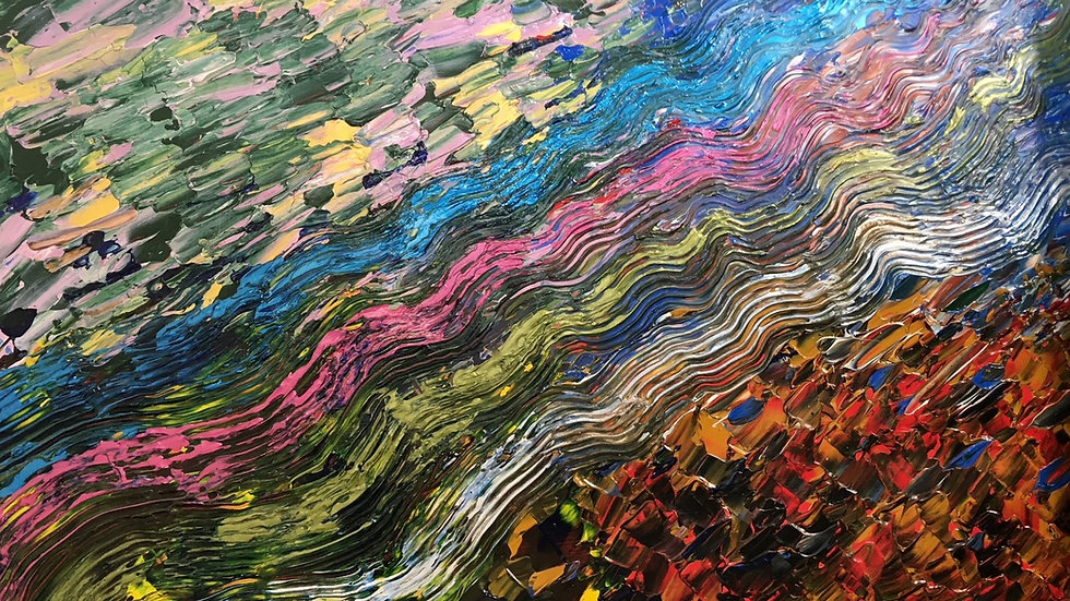 LANDSLIP - Original Acrylic by Artist Fiona Lindsay