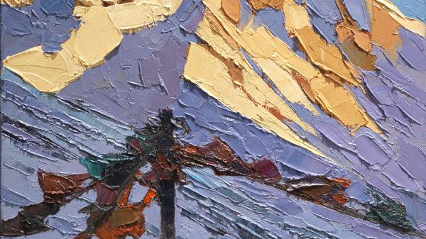 Prayer Flags at Everest  Base Camp, Tibet Artist: Alan Cotton