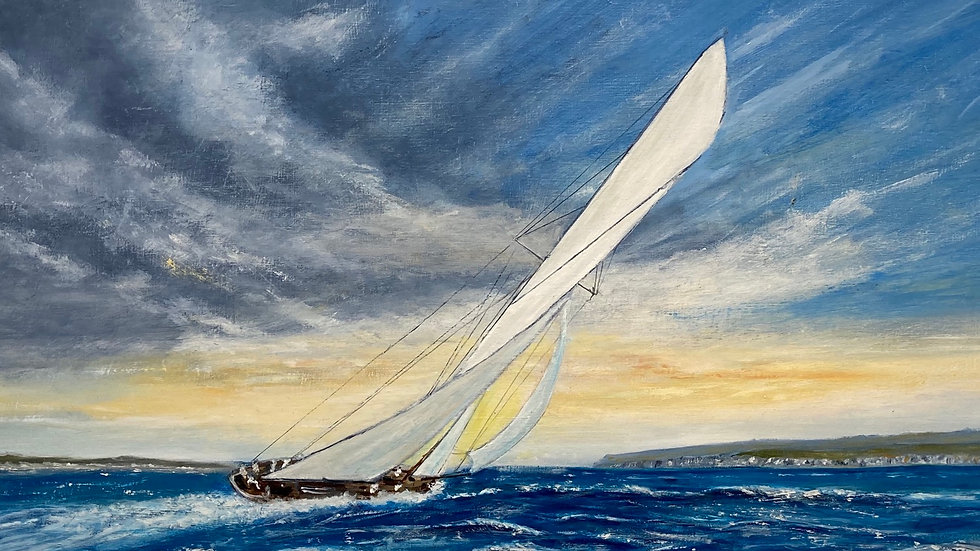 FULL SAIL Original Oil Artist: Monty