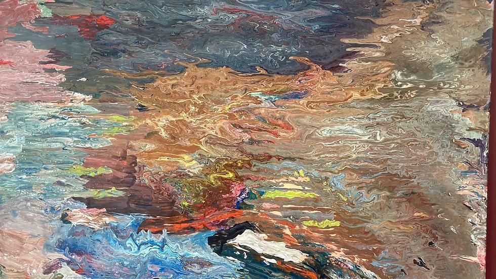 SANDBAR Oil on canvas Artist Fiona Lindsey
