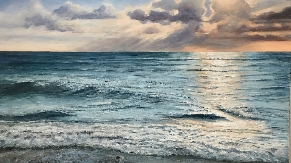 SOLAR ENERGY Original acrylic on canvas Artist: Sue Lewin