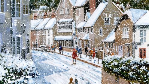 WINTER IN BEER Original multi Media Artwork Artist Bob Bradshaw