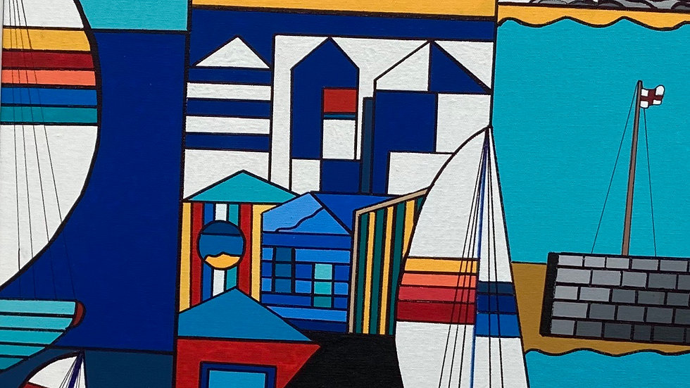 St  IVES 1 Original Acrylicon  canvas Artist  George Hutchinson