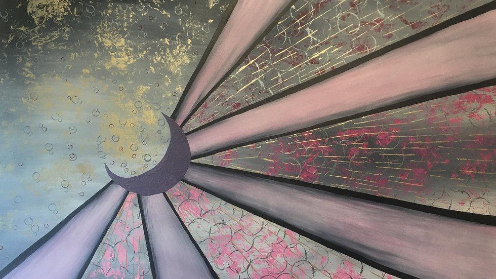 SUNSHINE AND SHOWERS - Acrylic by Fiona Lindsay
