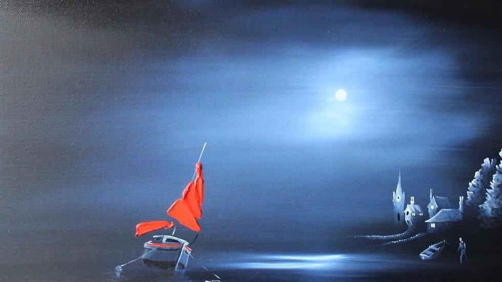 MIDNIGHT HARBOUR Original Oil Artist: MIKE JACKSON