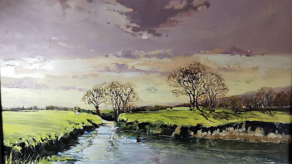 LATE AFTERNOON ON THE RIVER YARTY Artist Barry Seaforth Original Oil