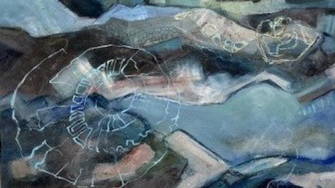 Ammonites Artist Ali Foxcroft Acrylic on canvas