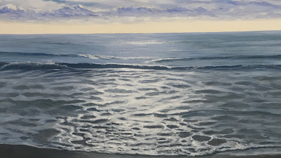 CALM WATER Vl Original Acrylic Artist: Sue Lewin