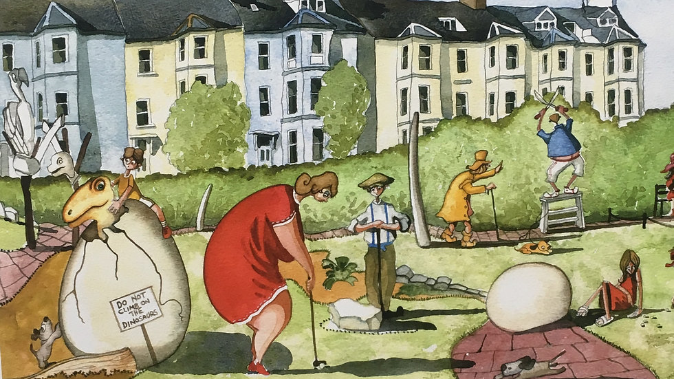 FUN AND GAMES IN SEATON Gicleé fine art print Artist Mike Jackson