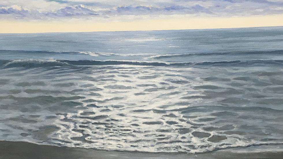 CALM WATER 4 Original acrylic Artist Sue Lewin