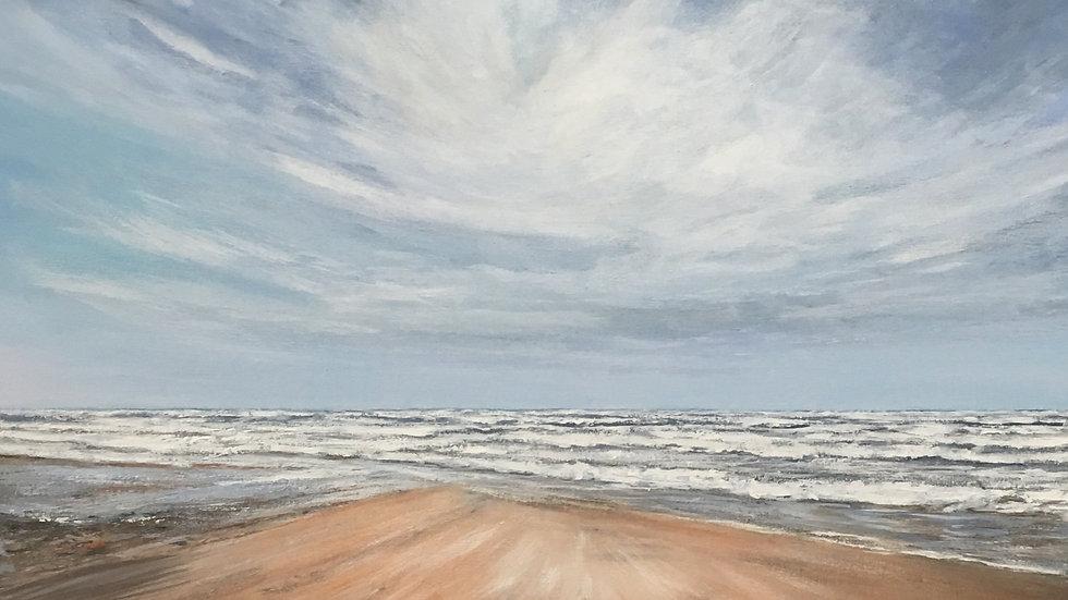 COPPER SAND Original Acrylic on canvas Artist: Sue Lewin