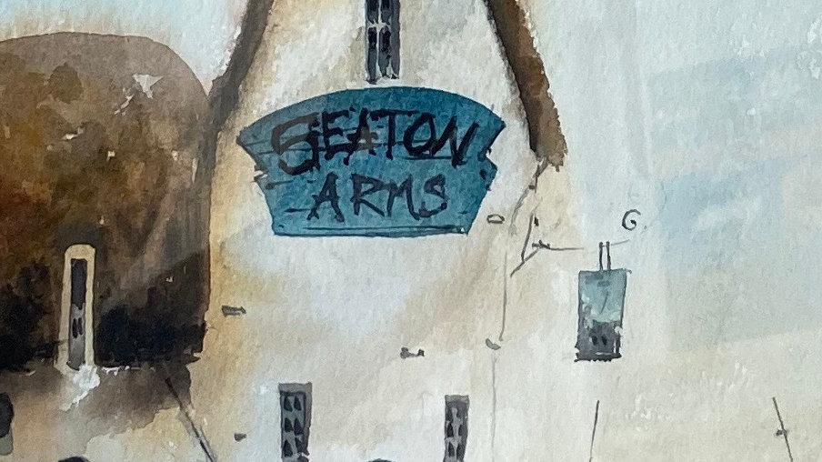 SEATON ARMS Original Watercolour Artist Mike Jackson
