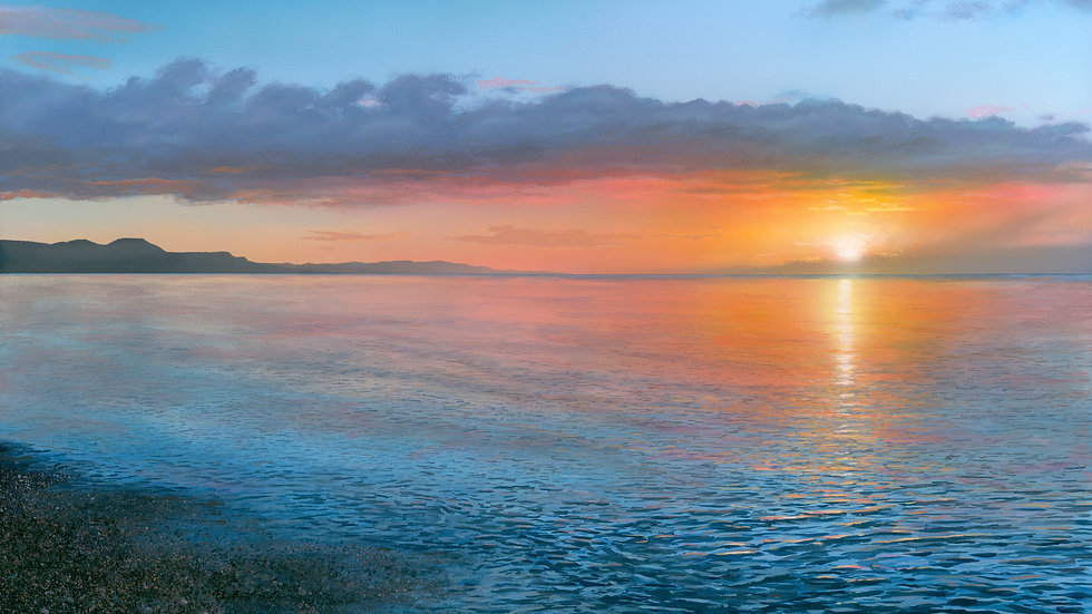 DAWN OVER LYME BAY
