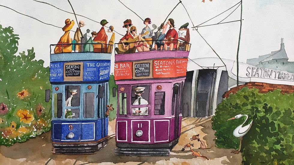 PHEW WHAT A LOAD IVE HAD Artist Mike Jackson Original Watercolour