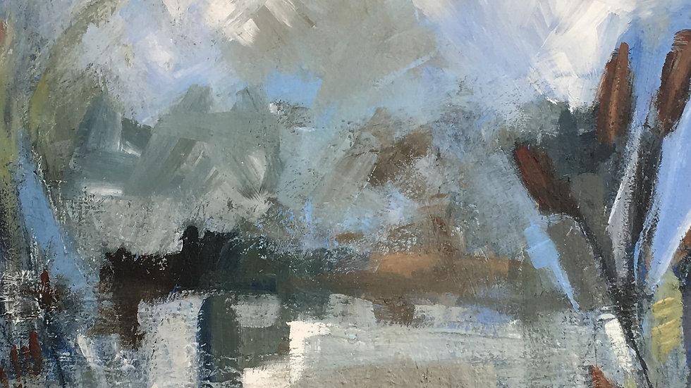 THE WETLANDS Original Acrylic on canvas Artist Ali Foxcroft