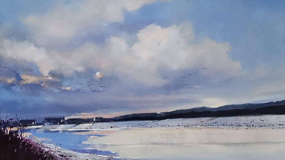 HOME TO ROOST Original Oil  Artist; Barry Seaforth