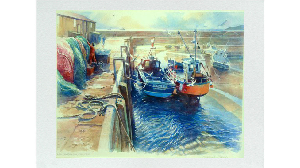 EBBING TIDE AT THE COBB Fine Art Giclee Numbered print  Artist Michael Stride