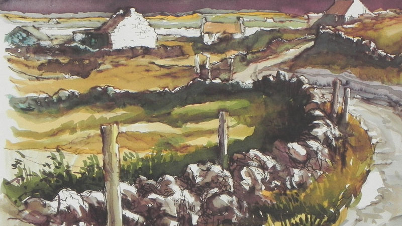 White Washed Cottages, Co Kerry Artist: Alan Cotton