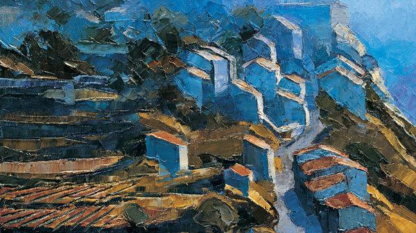 Gordes in Hazy Lighti, , Provence Artist: Alan Cotton