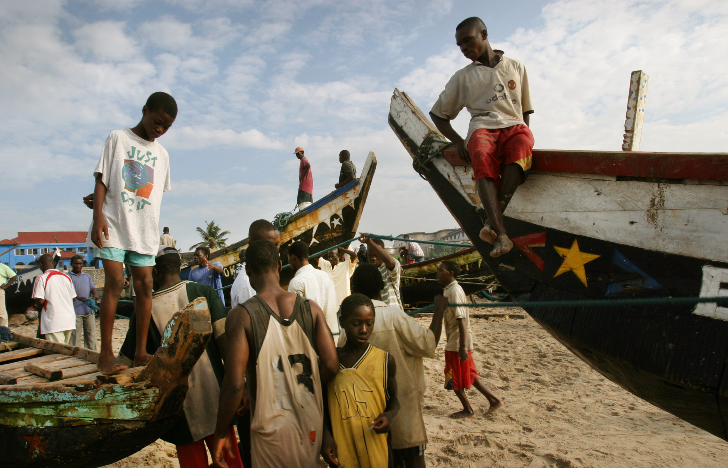Fishing boats, Ghana.