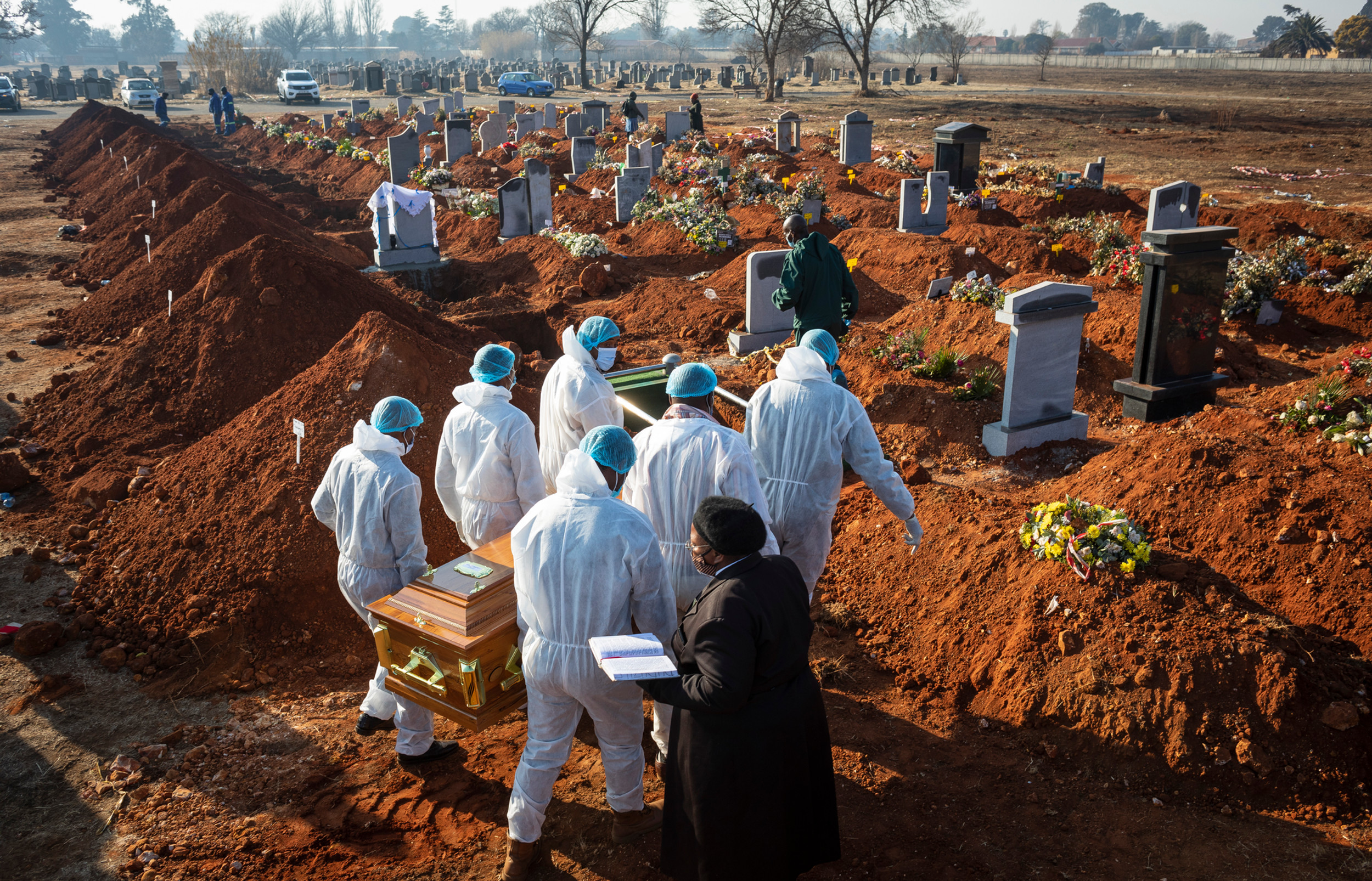 Pandemic funeral, South Africa.