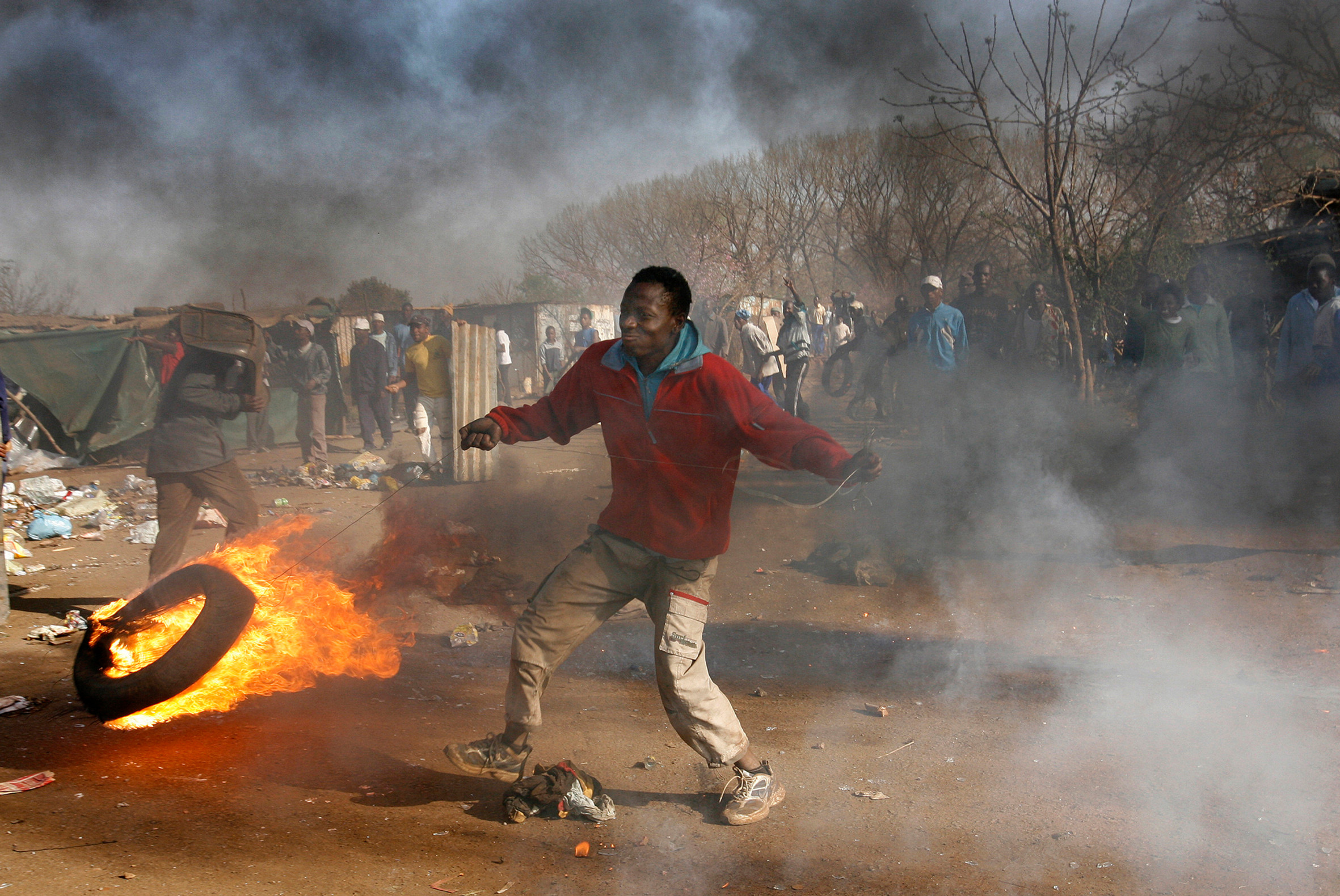 Protesting township residents, South Africa.