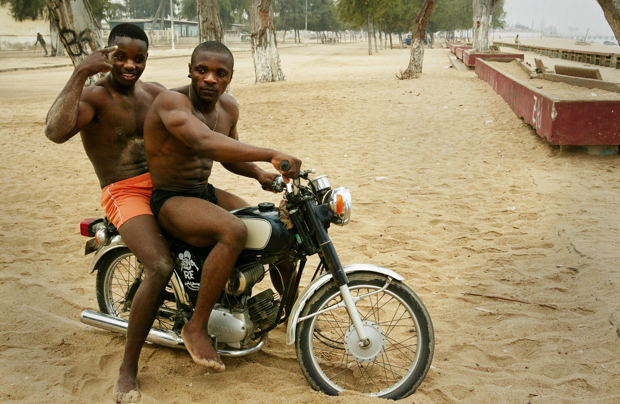 Body builders, Angola.