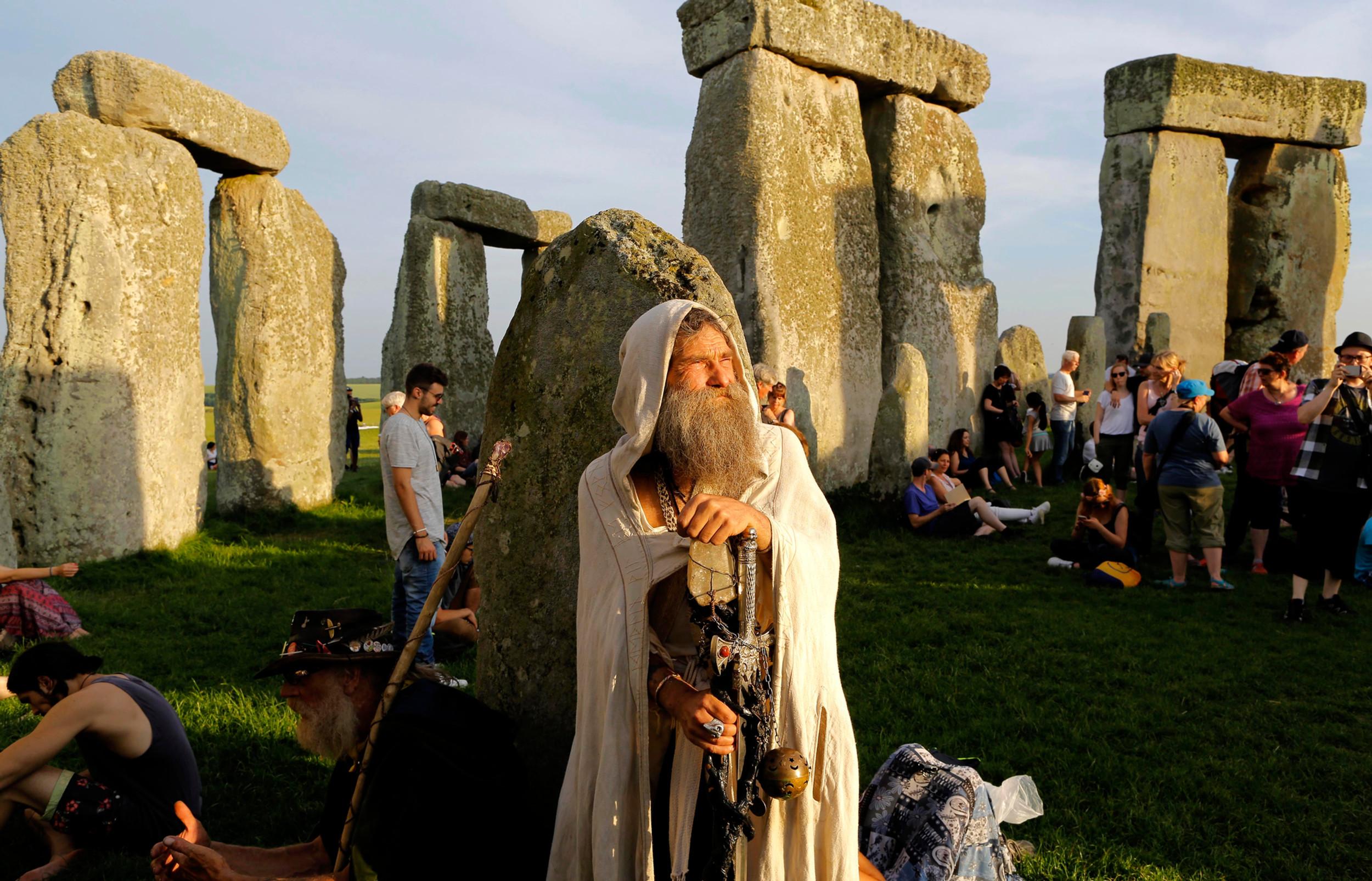 Druid's at Stonehenge, England.