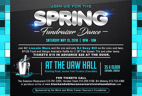 Spring Fundraiser Dance ($15 plus $2.00 fee)