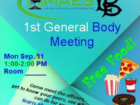 First General Body Meeting!