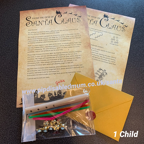 Letter from Santa + Jingle Stick Craft