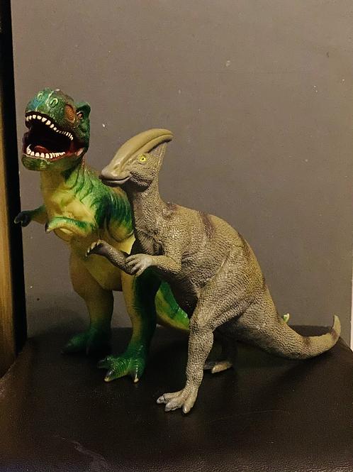 2 x Large Dinosaurs