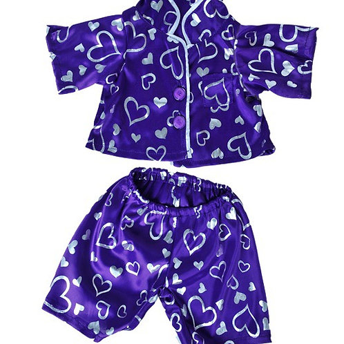Purple silky PJ's