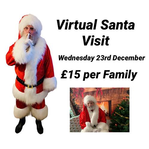 Virtual Bespoke Santa Visit - Wed 23rd December