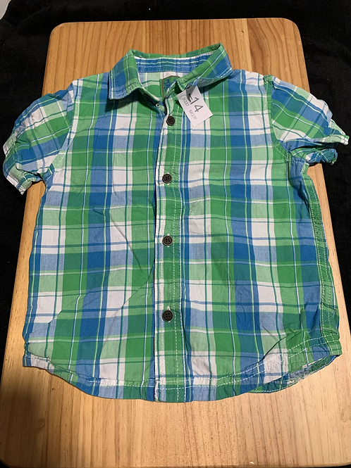 3-4 Years short sleeve check shirt - W14