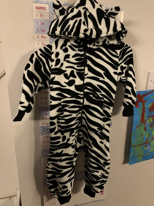 18-24m Zebra Onesie - Tags Removed Never Worn - Y34