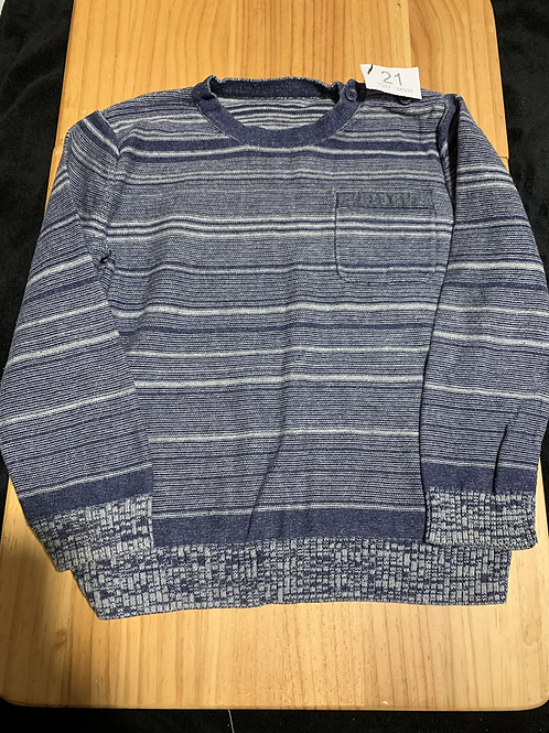 3-4 years Thin Jumper blue/white stripes - W21